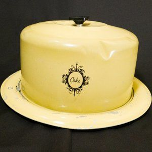 Vintage West Bend Cake Carrier in Yellow